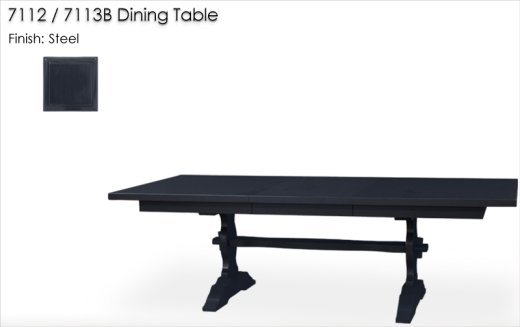Lorts 7112 / 7113B Dining Table finished in Steel