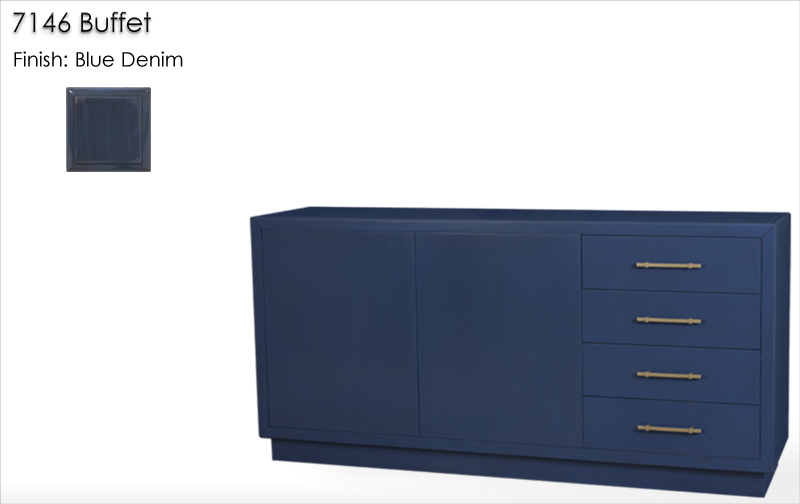 Lorts 7146 Buffet finished in Blue Denim