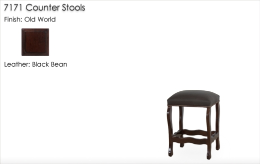 Lorts 7171 Counter Stool finished in Old World