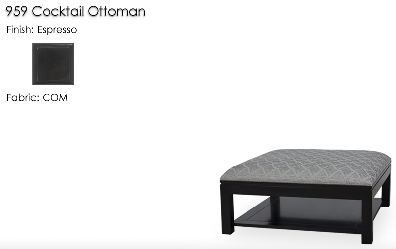 Lorts 959 Cocktail Ottoman finished in Espresso