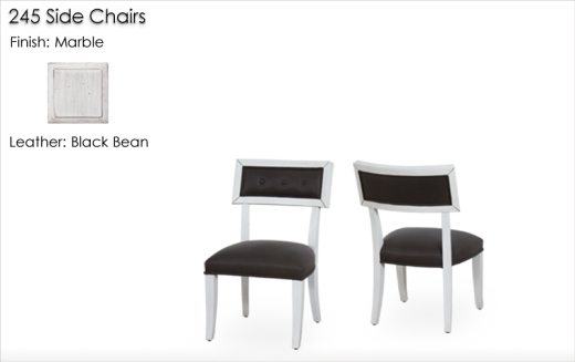 Lorts 245 Side Chairs finished in Marble