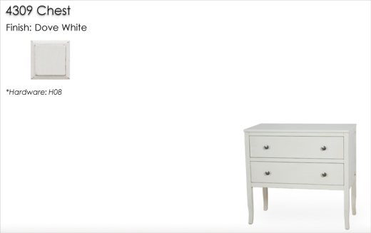 Lorts 4309 Chest finished in Dove White