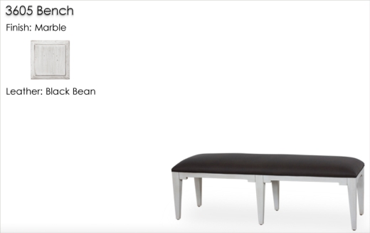 Lorts 3605 Bench finished in Marble