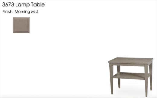 Lorts 3673 Lamp Table finished in Morning Mist