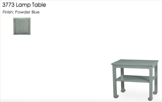Lorts 3773 Lamp Table finished in Powder Blue