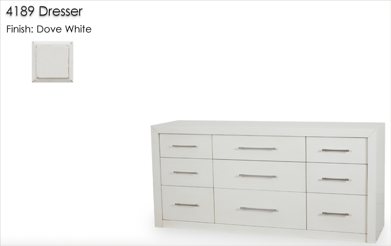 Lorts 4189 Dresser finished in Dove White