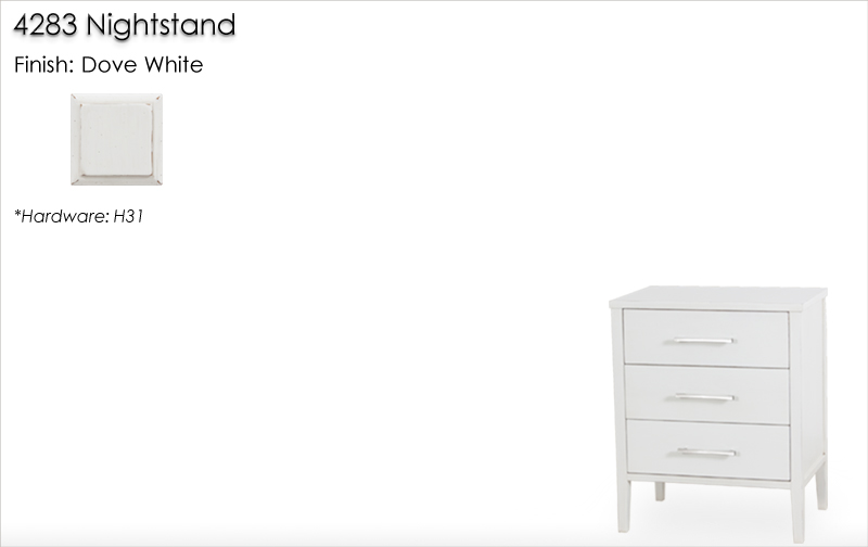 Lorts 4283 Nightstand finished in Dove White