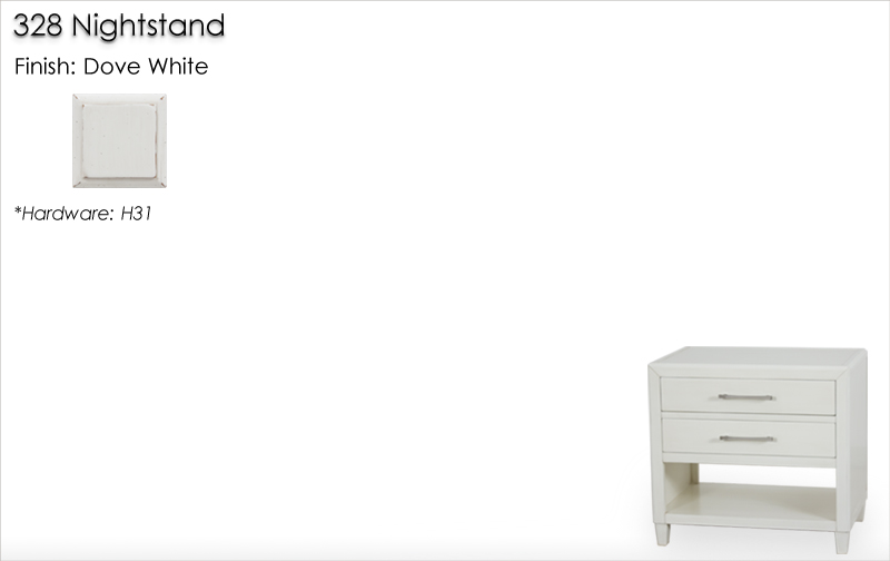 Lorts 328 Nightstand finished in Dove White