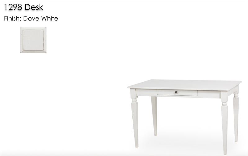 Lorts 1298 Desk finished in Dove White