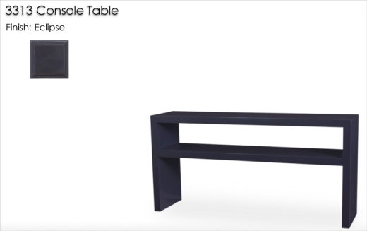 Lorts 3313 Waterfall Edge Console Table finished in Eclipse