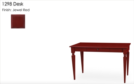 Lorts 1298 Desk finished in Jewel Red