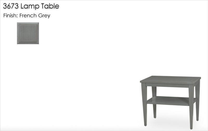 Lorts 3673 Lamp Table finished in French Grey