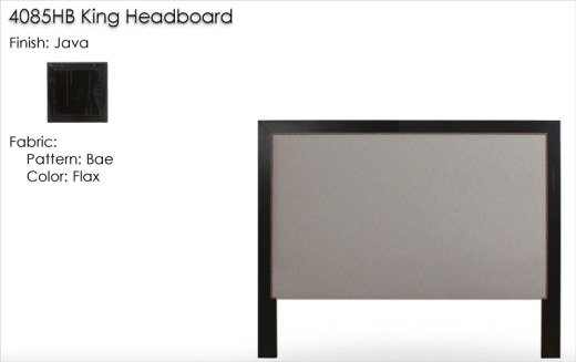 Lorts 4085HB King Headboard finished in Java