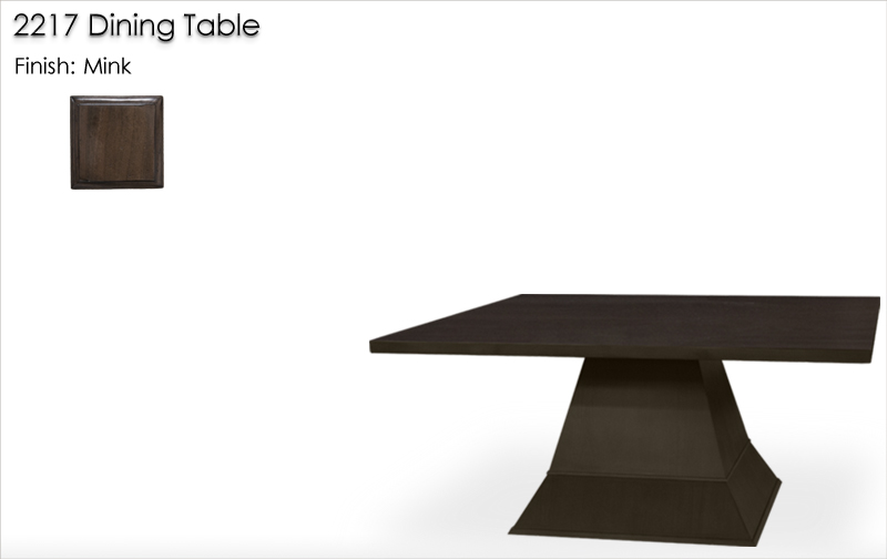 Lorts 2217 Dining Table finished in Mink