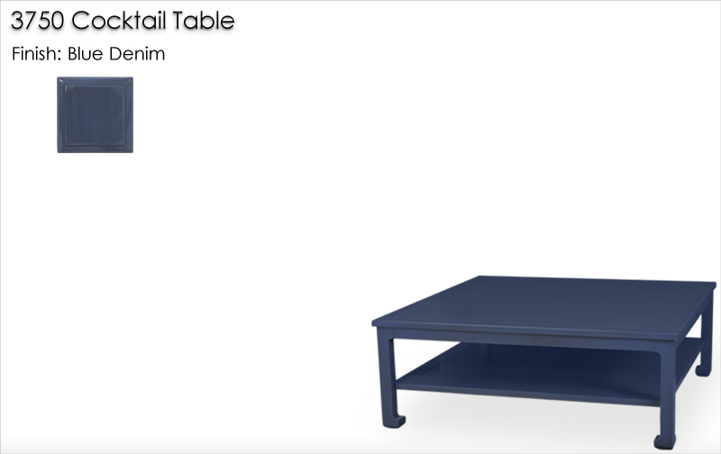 Lorts 3750 Cocktail Table finished in Blue Denim