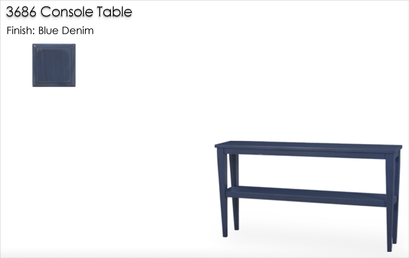 Lorts 3686 Console Table finished in Blue Denim