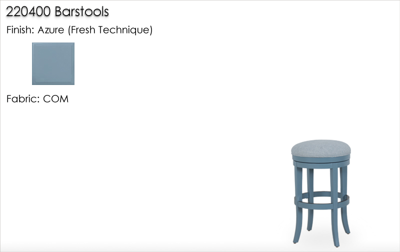 Lorts 220400 Barstools finished in Azure, Fresh Technique