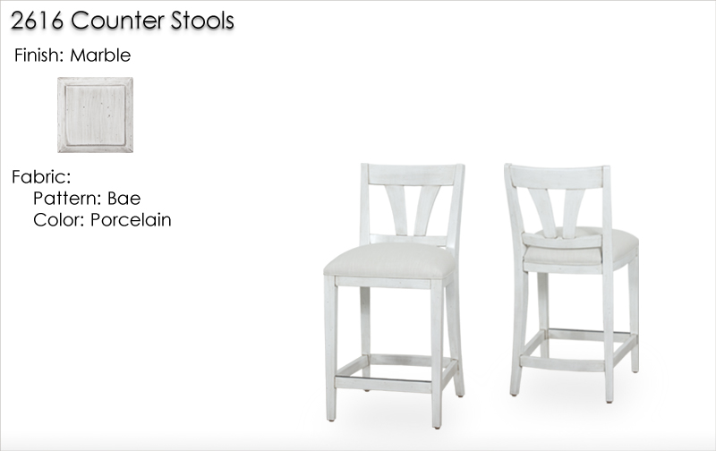 Lorts 2616 Counter Stools finished in Marble