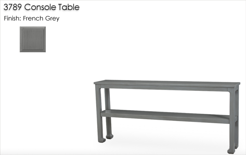 Lorts 3789 Console Table finished in French Grey