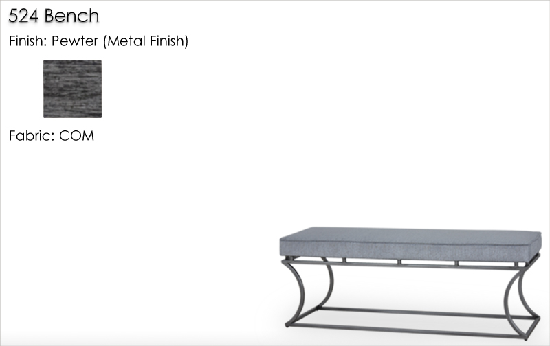 Lorts 524 Bench finished in Pewter