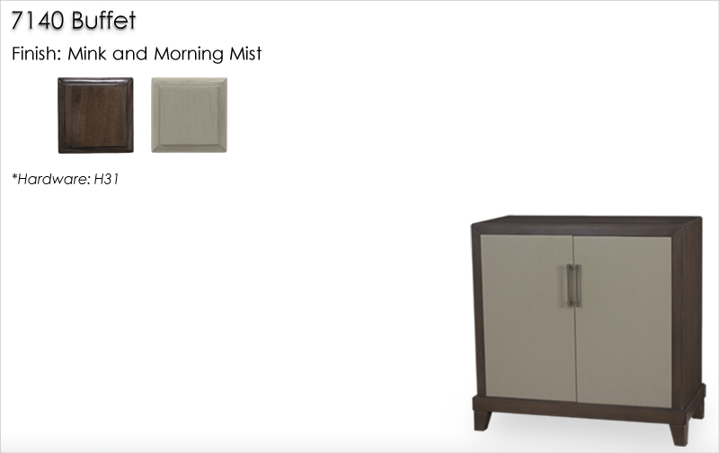 7140 Buffet finished in Mink and Morning Mist