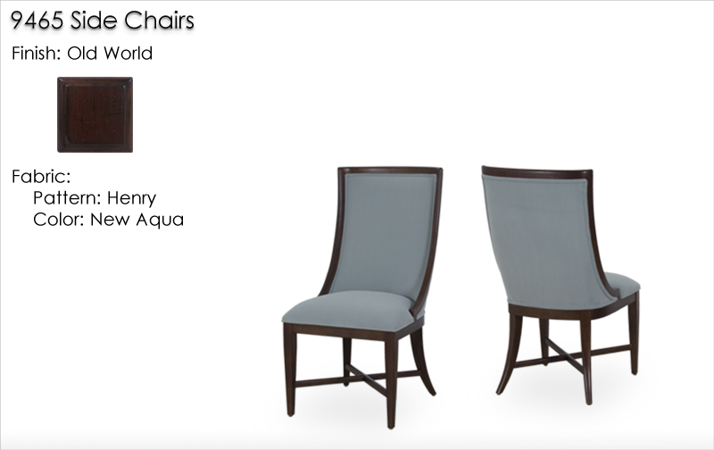 9465 Dining Chairs finished in Old World