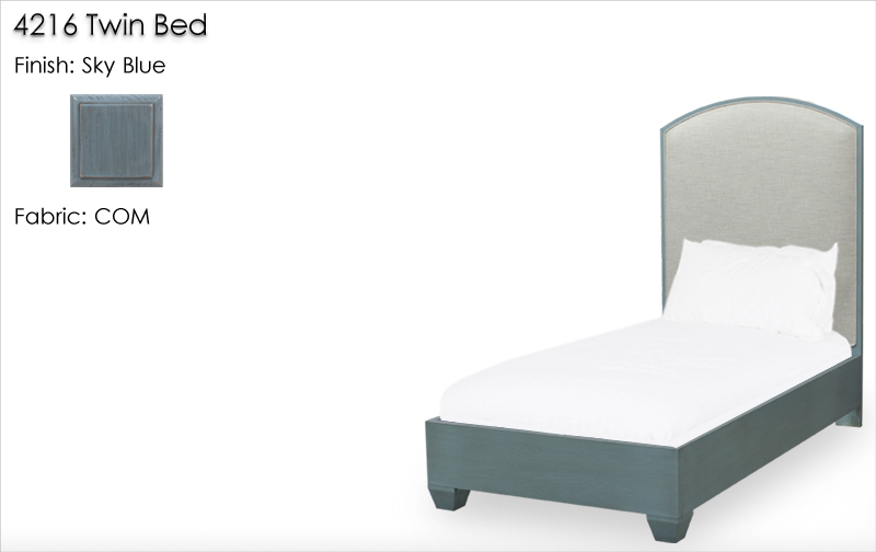 4216 Twin Bed finished in Sky Blue