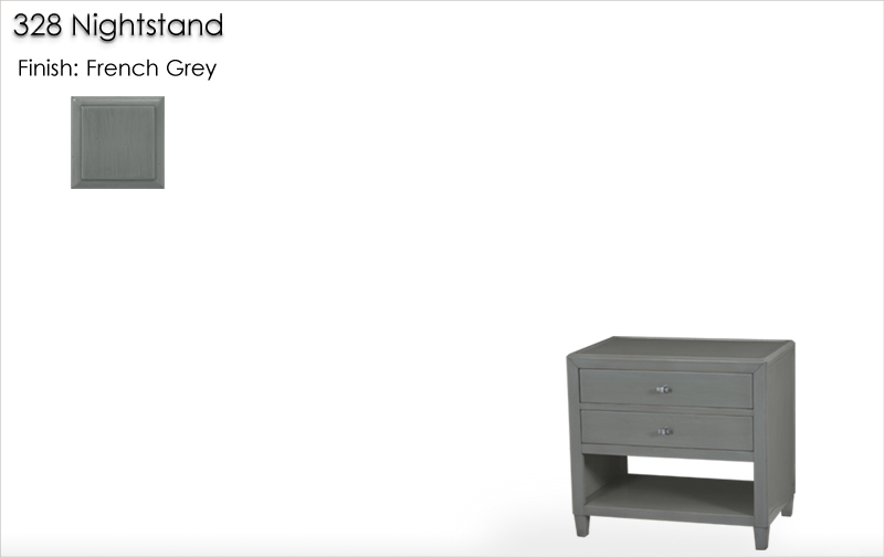 Lorts 328 Nightstand finished in French Grey