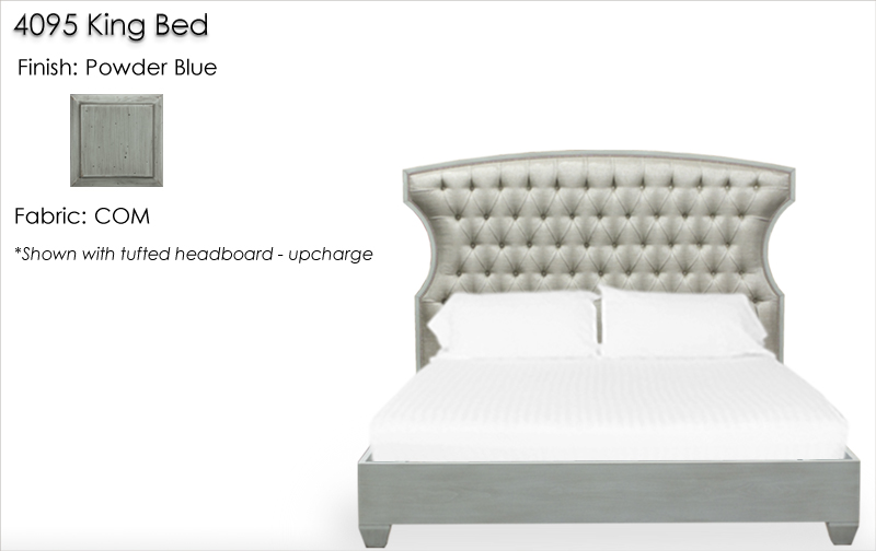 Lorts 4095 King Bed finished in Powder Blue
