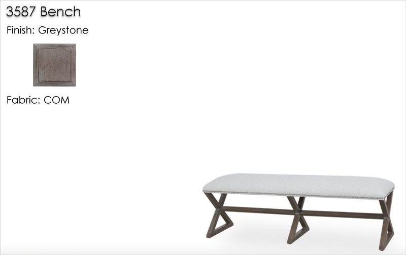 Lorts 3587 Bench finished in Greystone